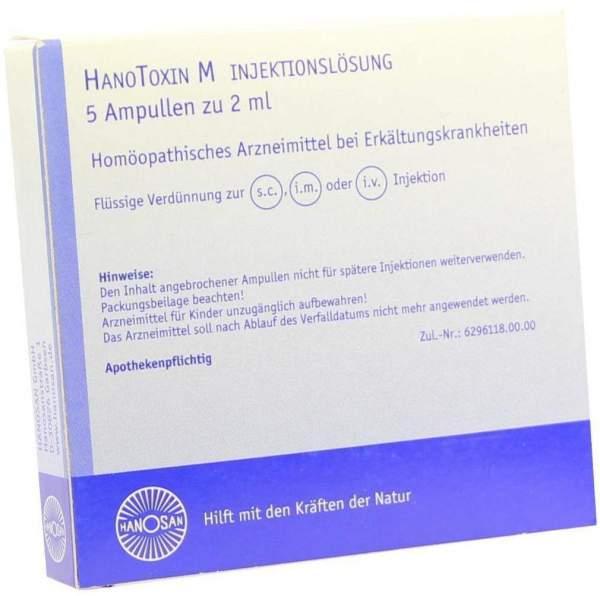 Hanotoxin M Injektionslösung 5 X 2 ml Ampullen