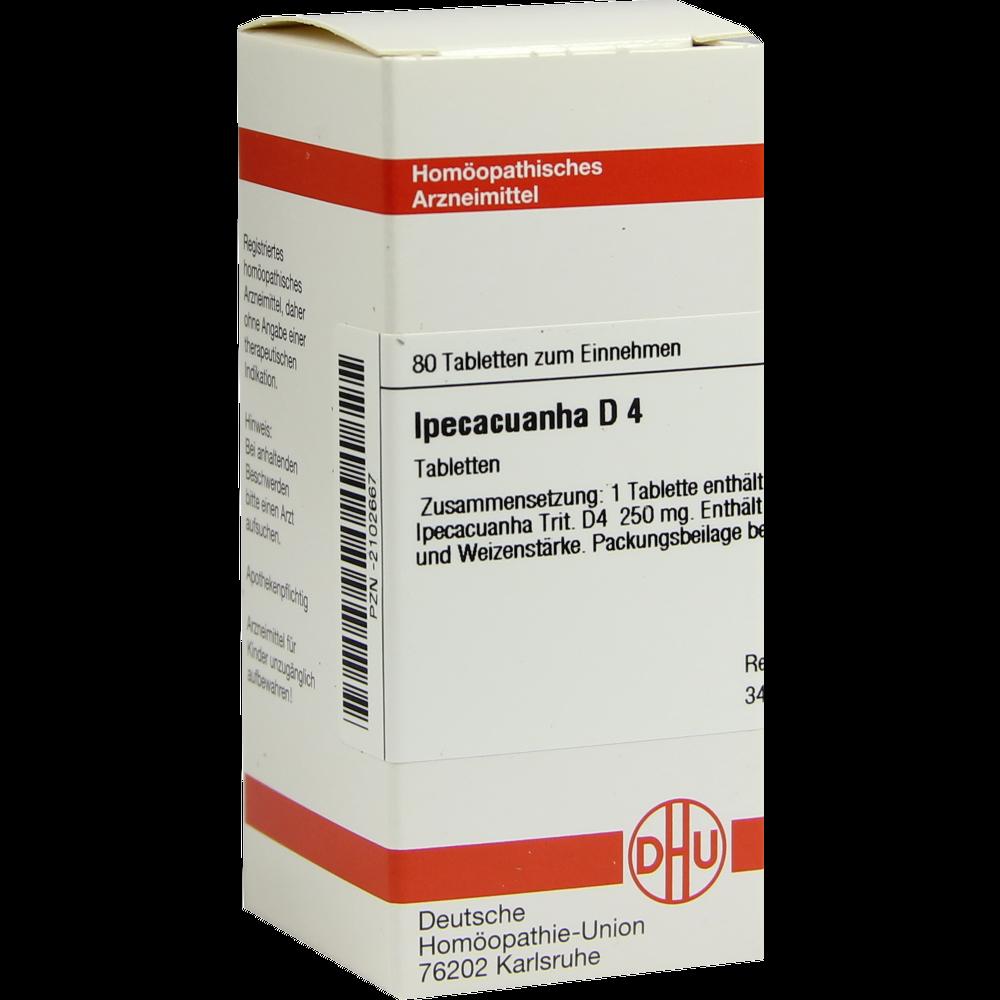 Ipecacuanha D4 DHU 80 Tabletten von DHU-Arzneimittel GmbH ...