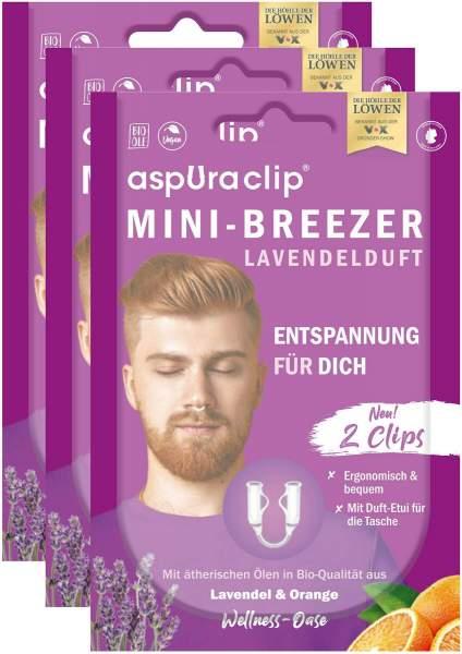 Aspuraclip Mini-Breezer Lavendel 3 x 2er Set