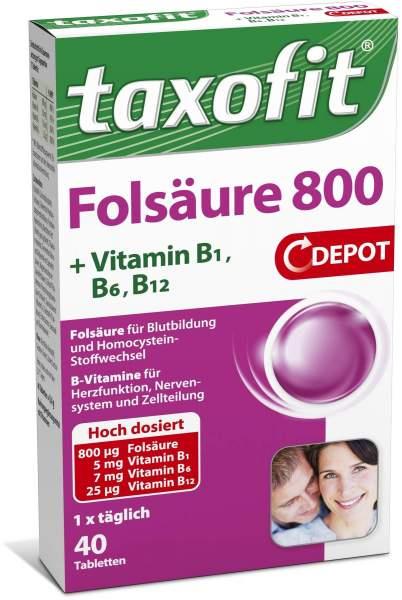 Taxofit Folsäure 800 Depot 40 Tabletten