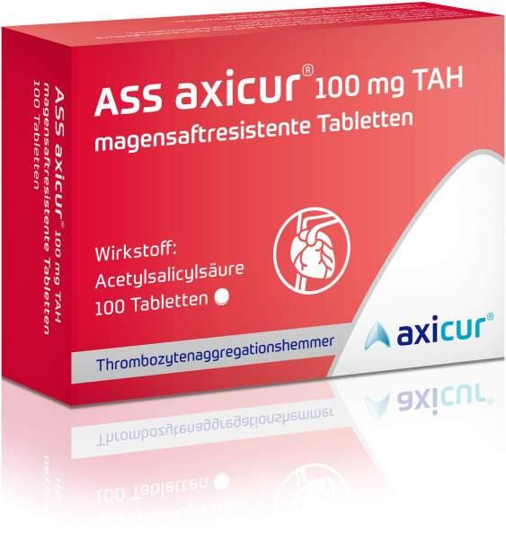 ASS axicur 100 mg TAH 100 magensaftresistente Tabletten