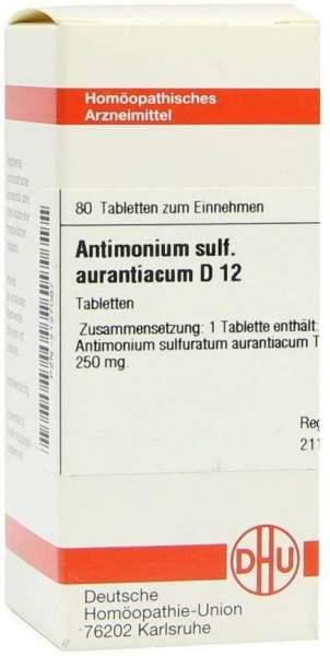 Dhu Antimonium Sulfuricum Aurantiacum D12 Tabletten