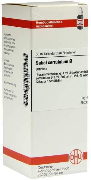 Sabal Serrulatum Urtinktur 50 ml Dilution