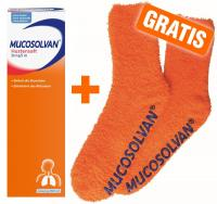 Mucosolvan Saft 30 mg pro 5 ml 250 ml Saft + Kuschelsocke gratis