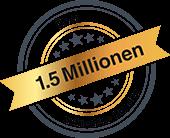 Über 1,5 Million zufriedene Kunden