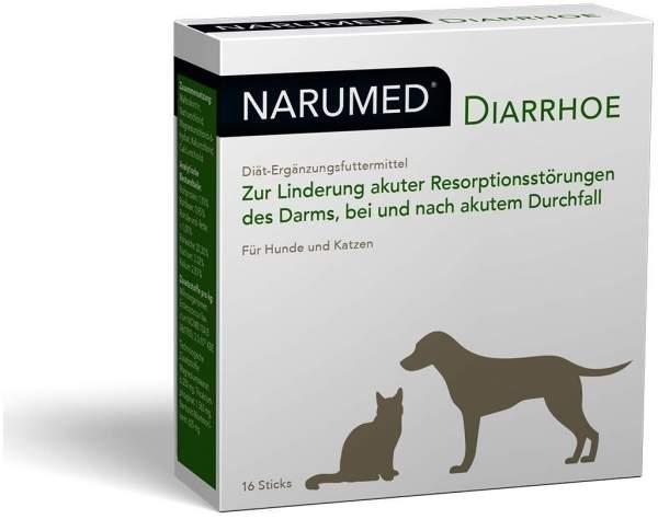 Narumed Diarrhoe 16 Pulver Sticks für Hunde und Katzen