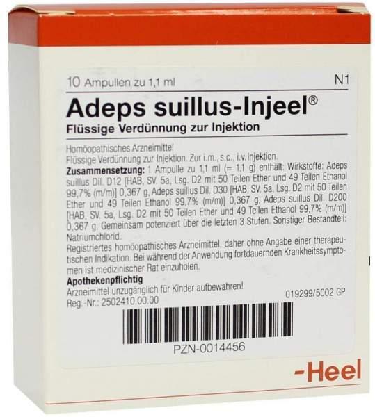Adeps Suillus Nosoden Injeele 1,1 ml 10 Ampullen
