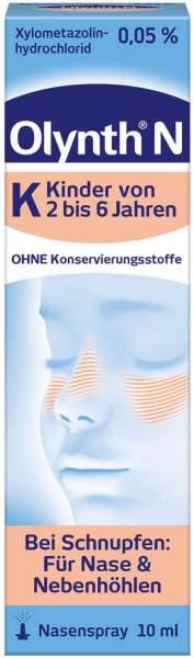 Olynth 0,05 % N Schnupfen Dosierspray ohne Konservierungsmittel Kinder 10 ml