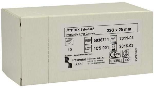 Ambix Safe Can Portpunktion Kanüle 22gx25mm Gerade