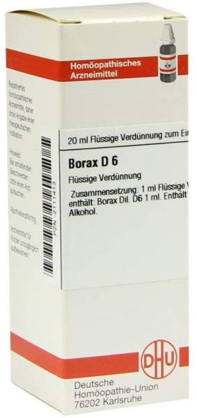 Borax D6 20 ml Dilution