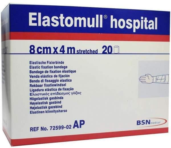 Elastomull Hospital 4mx8cm Elastische Fixierbinde Weiss 20 Binden