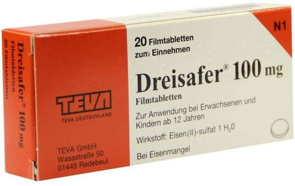 Dreisafer 100 mg 20 Filmtabletten