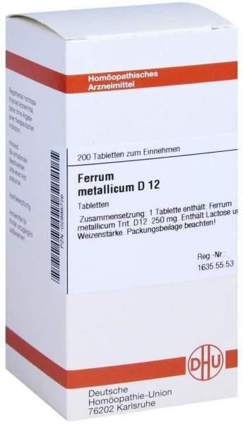 Ferrum Metallicum D 12 200 Tabletten