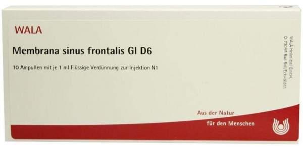 Wala Membrana Sinus Frontalis Gl D6 10x1ml Ampullen