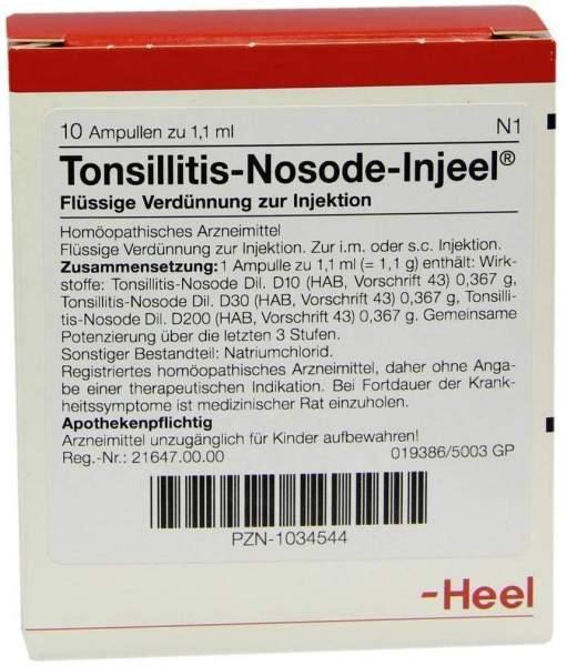 Tonsillitis Nosode Injeel Ampullen 10 Ampullen
