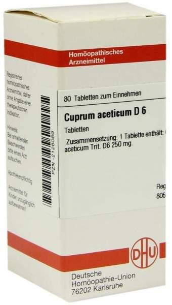 Cuprum Aceticum D 6 Tabletten