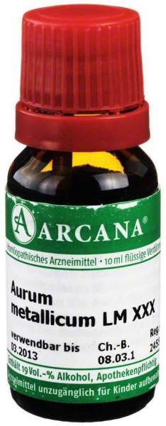 Aurum Metallicum Arcana Lm 30 Dilution 10 ml