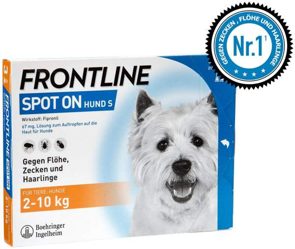 Frontline Spot On Hund S 2 - 10 kg 3 Lösungen
