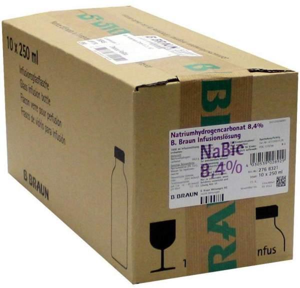 Natriumhydrogencarbonat B.Braun 8,4 % 10 X 250 ml Infusionslösung