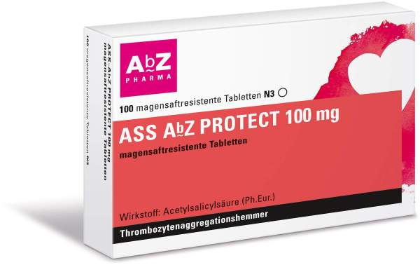ASS AbZ Protect 100 mg 100 magensaftresistente Tabletten