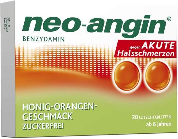 Neo angin Benzydamin Honig - Orange 20 Lutschtabletten