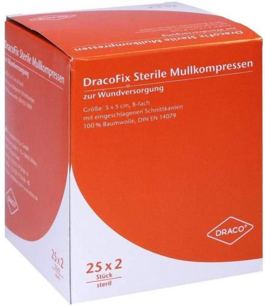 Dracofix Peel Steril 5 X 5 cm 8fach 25 X 2 Kompressen