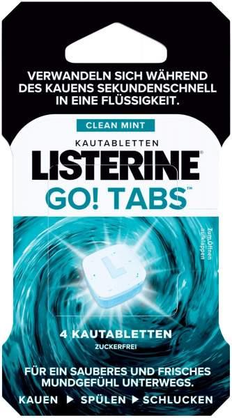 Listerine Go Tabs 4 Kautabletten