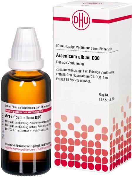 Arsenicum Album D30 Dhu 50 ml Dilution