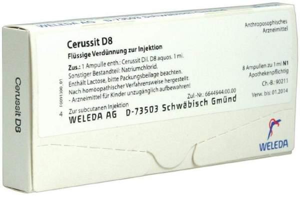 Weleda Cerussit D8 8 X 1 ml Ampullen