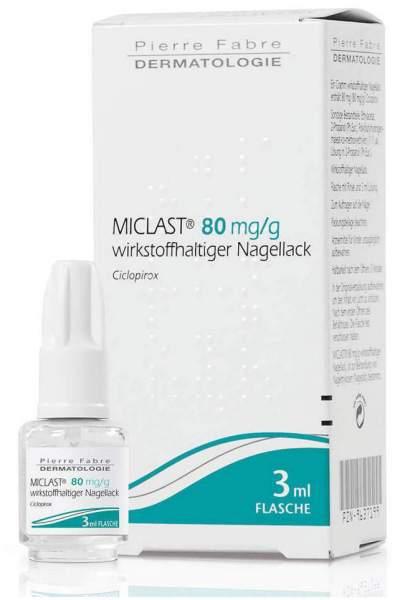 Miclast 80 mg pro g wirkstoffhaltiger Nagellack 3 ml
