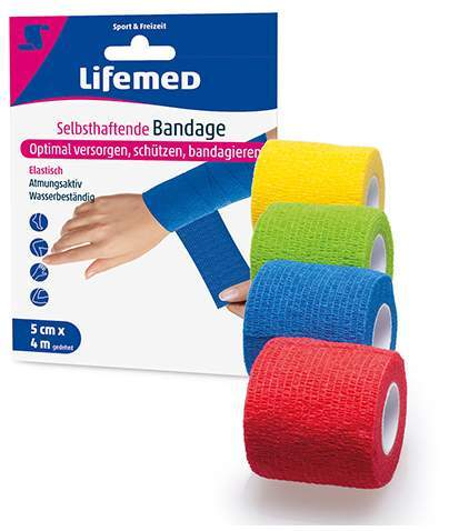 Selbsthaftende Bandage, farbig sortiert