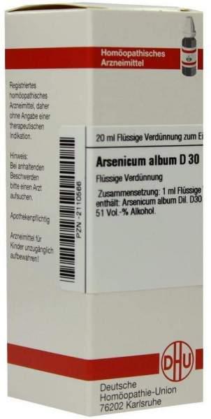Arsenicum Album D30 Dhu 20 ml Dilution