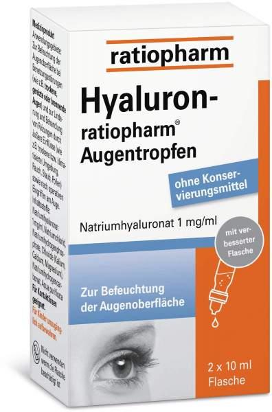 Hyaluron-ratiopharm 2 x 10 ml Augentropfen