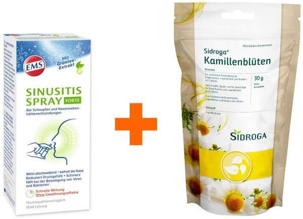 Emser Sinusitis 15 ml Spray forte + Sidroga Kamillenblüten loser Arzneitee 30 g