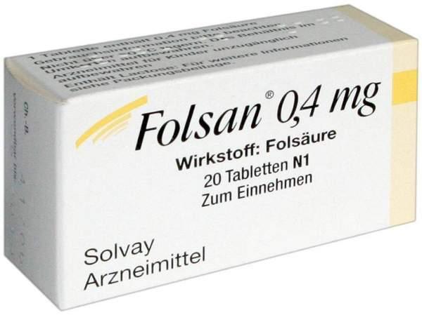 Folsan 0,4 mg 20 Tabletten