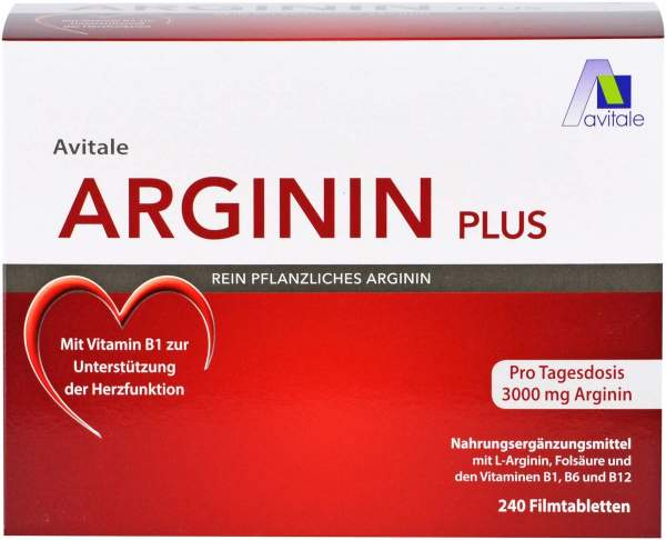 Arginin plus Vitamin B1+B6+B12+Folsäure 240 Filmtabletten