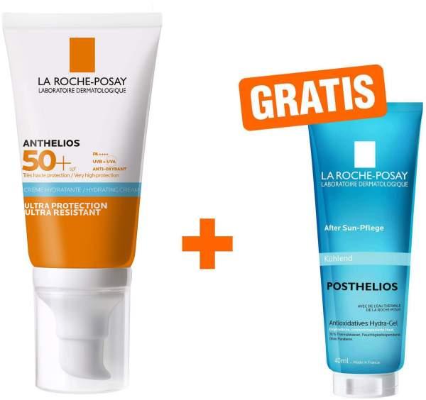 La Roche Posay Anthelios Hydratisierende Creme LSF50+ 50 ml + gratis Posthelios 40 ml Mini