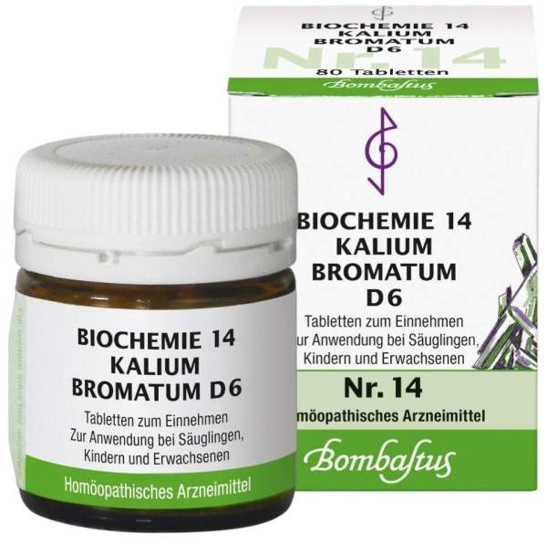 Biochemie 14 Kalium bromatum D 6 80 Tabletten