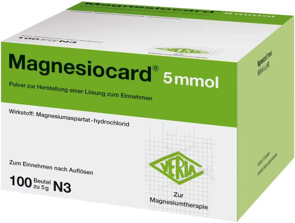 Magnesiocard 5 Mmol Pulver 100 Beutel