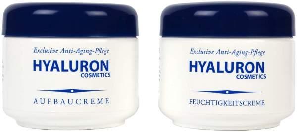 Hyaluron Antifalten Aufbaucreme und Feuchtigkeitscreme 2 x 125 ml