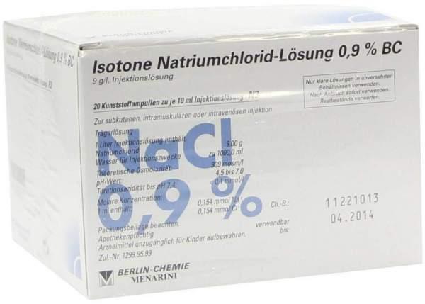 Isotone Nacl Lösung 0.9 % Bc Plast.Amp. 20 X 10 Ml...