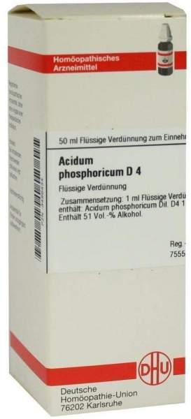 Acidum Phosphoricum D 4 50 ml Dilution
