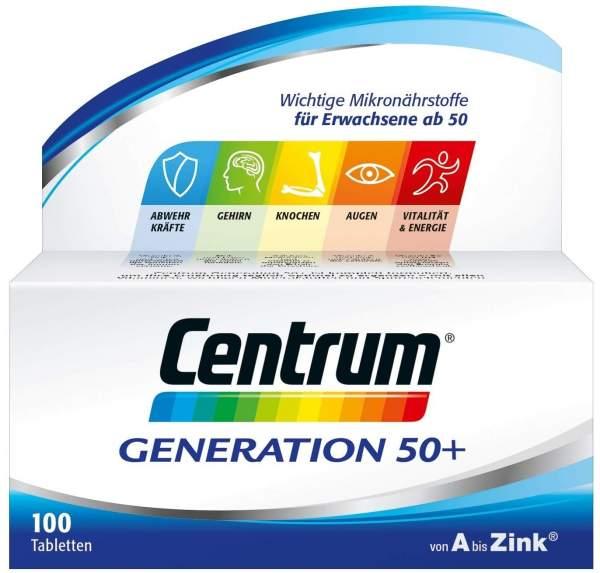 Centrum Generation 50+ A-Zink Lutein 100 Capletten