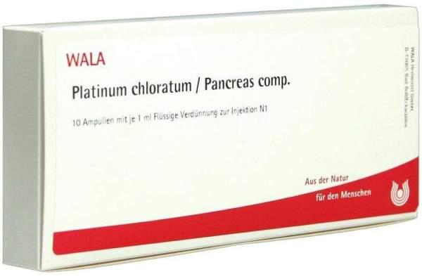 Wala Platinum Chloratum Pancreas Comp. 10 X 1 ml Ampullen