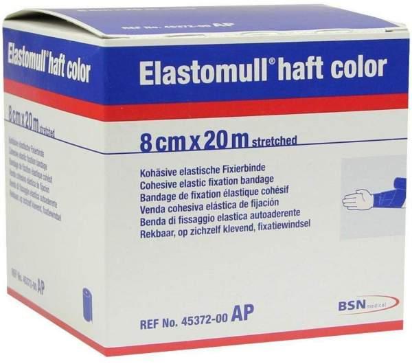 Elastomull Haft Color 20mx8cm Blau Fixierbinde