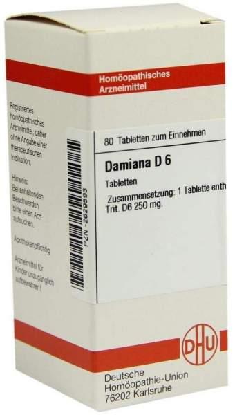Damiana D6 80 Tabletten