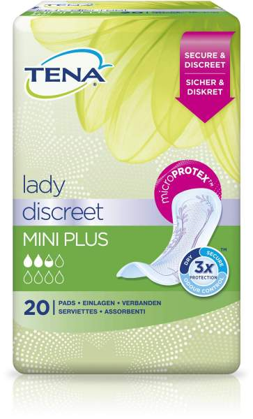 Tena Lady Discreet Mini Plus 20 Einlagen