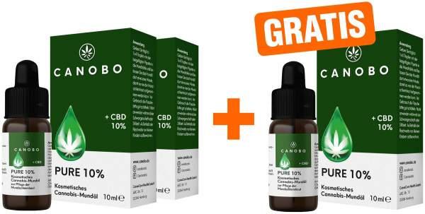 Canobo Pure 10% 2 x 10 ml Tropfen + gratis 10 ml Tropfen