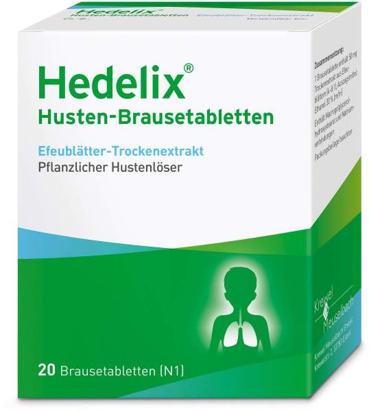 Hedelix Husten 20 Brausetabletten