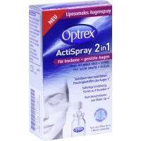 OPTREX ActiSpray 2in1  10ml für trockene + gereizte Augen + gratis Margerite im Tontopf